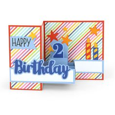 Silhouette Design Store: pop up box card birthday age 2