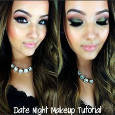 """Currently obsessed with @AmandaEnsing NEW """"Date Night Makeup Tutorial"""" ! Go to her channel youtube.com/beautybox1211and see how she created this sultry green eye using our REGAL PIGMENT! #alexapersicocosmetics #alexapersico #amandaensing #youtube #motd #makeup #smokeyeye"""