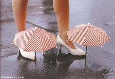 Umbrellas,,,for your shoes!?!
