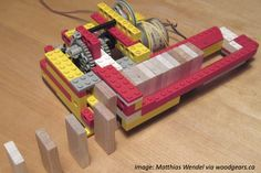 A LEGO machine dispenses dominoes with surprising speed in this fun math story! Math Activities For Kids, Fun Math, Science Ideas, Lego App, Lego Bots, Lego Machines, Lego Club, Lego Technic, Lego Creations
