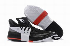 new arrival 8cc07 686ae Buy Discount Adidas D Lillard 3 Black White Red Super Deals from Reliable  Discount Adidas D Lillard 3 Black White Red Super Deals suppliers.