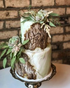 Rustic Valentine'S Day Cake; Wedding Cake Inspiration, Floral Wedding Cake, Floral Cake, Fruit Ca Whimsical Wedding Cakes, Pretty Wedding Cakes, Floral Wedding Cakes, Fall Wedding Cakes, Wedding Cake Rustic, Rustic Cake, Beautiful Wedding Cakes, Wedding Cake Designs, Woodland Wedding