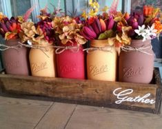 Fall Mason jar centerpiece Fall mason jar by StacyTurnerCreations