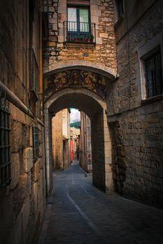 The old city of Girona, Girona, Spain ( L'Escala · Costa Brava · Catalunya) www.finquesballesta.com #finquesballesta