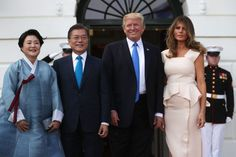 Fashion Notes: Melania Trump Is Pretty In Pink For Meeting With South Korean Leaders