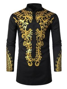 African Fashion Stand Collar African Ethnic Style Color Block Button Fall Mens Shirt We Offer Top Good Quality Cheap Clothes For Women And Men Clothing Wholesaler, Get Affordable Clothing At Worldwide. Ethnic Fashion, African Fashion, African Men, African T Shirts, Retro Fashion, Casual Shirts For Men, Casual Tops, Dashiki Shirt, Mens Shirts Online