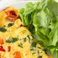 omelete sem glúten e sem lactose