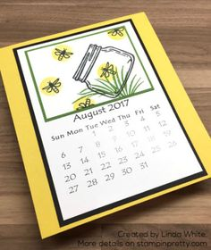 It's Time for Linda's Annual Calendar | Stampin' Pretty