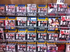 someone got excited<<< There's a little bit of little mix, a lot of one direction and then in back of one of the 1D albums, you can see a bit of the katy perry album lol.