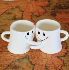 Valentine's Day Gifts for Him--City Block Adorable Couple Milk and Coffee Mug-- LOVE & LIGHT 2 YOUR SOULS