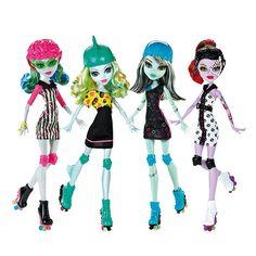 Monster High Roller Maze Set of Operetta, Ghoulia, Frankie, & Lagoona. Monster High Roller Maze Set of Monster High Games, New Monster High Dolls, Monster High Party, Love Monster, Barbie 80s, Ever After High, Vampires, Personajes Monster High, Mattel Shop