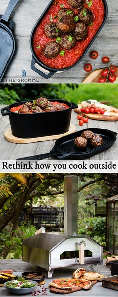 Take backyard cooking to the next level with this beefed up outdoor oven. The stainless steel oven gets super hot degrees) super fast minutes) and cooks a pizza even faster (one minute! It is sized to cook a variety of other high temperature fo Dutch Oven Cooking, Cast Iron Cooking, Dutch Ovens, Outdoor Oven, Outdoor Cooking, Survival, Stainless Steel Oven, Delicious Restaurant, Wood Pellets