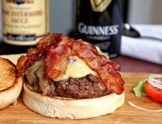 Guinness Bacon Cheeseburgers