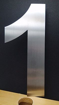 Modern House Numbers 6 Inch Brushed Stainless Steel Number 7