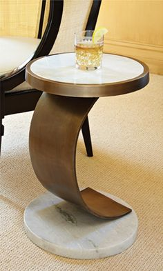 Brass C Side Table - Clayton Gray Home