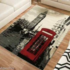 Terra London Rectangle Area Rug Black White Red Looking For A To Go With Traci S New Leather Love Seat