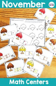 November themed math task cards, count the dominoes. Hands on math practice perfect for the month of November. Teacher Created Resources, Math Resources, September Themes, November, Activity Centers, Math Centers, Math Task Cards, Math Help, Math Practices