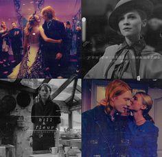 Fleur Delacour & Bill Weasley | Harry Potter    #clemencepoesy #domhnallgleeson #couples