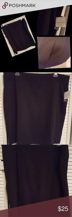 Liz Claiborne pencil skirt Black pencil skirt. New with tags. Kick pleat in back still tacked. Liz Claiborne Skirts Pencil