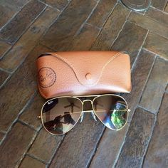 Womens Aviator Ray Bans Brown tinted, large frame size, fairy new - not worn often Ray-Ban Accessories Sunglasses