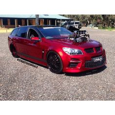 Holden Wagon, Station Wagon Cars, Aussie Muscle Cars, Holden Commodore, Custom Muscle Cars, Candy Apple Red, Street, Instagram, Walkway