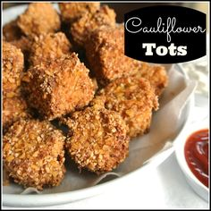 Life changing Cauliflower Tots finally a healthy tater tot! Perfect for the big game!