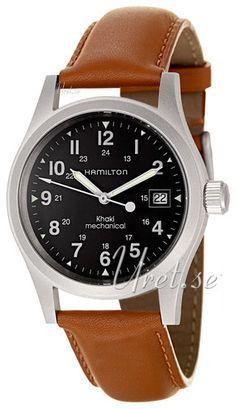 Hamilton Khaki Field Sort/Lær Ø42 mm Hamilton Khaki Field, Sorting, Watches, Leather, Accessories, Wristwatches, Clocks, Jewelry Accessories