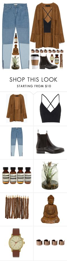 """""""Not What I Expected"""" by dana-rachel ❤ liked on Polyvore featuring Zara, Topshop, Reiss, Acne Studios, Aesop, Void, Maison Margiela and Le Labo"""