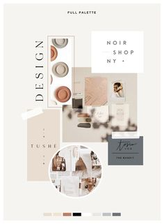 Branding moodboard ideas and inspiration for your small business design Coperate Design, Logo Design, Layout Design, Branding Design, Graphic Design Layouts, Monogram Design, Typography Design, Design Ideas, Design Websites