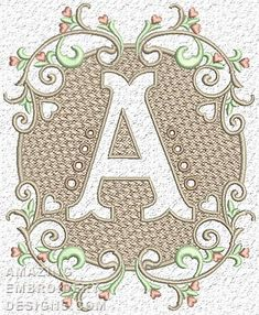 Free Embroidery Design: Letter A