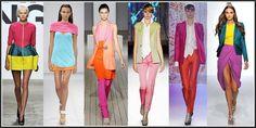 """La tendencia denominada """"color block"""", o el arte de combinar colores intensos entre sí http://www.roselin.es/noticias/?p=818"""