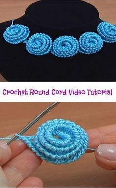 Hi crochet lovers around the world! It is always amusing and funny to learn how to make different crochet cords. With this crochet cord video tutorial you are going to learn how to make crochet round cord. The video tutorial is well-detailed and we h Crochet Cord, Crochet Motifs, Crochet Flower Patterns, Crochet Stitches Patterns, Freeform Crochet, Irish Crochet, Crochet Designs, Crochet Flowers, Knitting Patterns