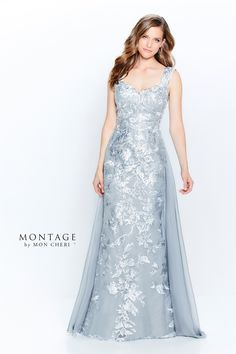 Silver Evening Gowns, Beautiful Evening Gowns, Evening Dresses, Bride Gowns, Bridal Dresses, Montage By Mon Cheri, Mothers Dresses, Groom Dress, Dress Collection