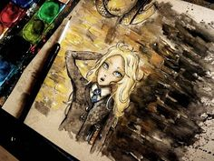 LUNA LOVEGOOD: Watercolor Time Lapse Painting - Harry Potter - YouTube