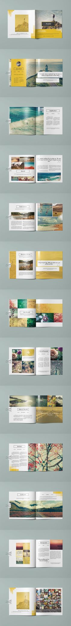 Portfolio Square Modern Catalog / Brochure 24 Pages Template InDesign INDD