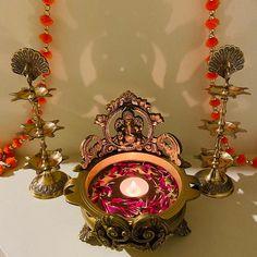 Brass Handmade Ganesha Design Oil Wick Hanging Diya Brass Oil | Etsy Diya Lamp, Dancing Ganesha, Diwali Lights, Brass Door Handles, Handmade Lamps, Peacock Design, Hindu Deities, Brass Lamp, Lamp Sets