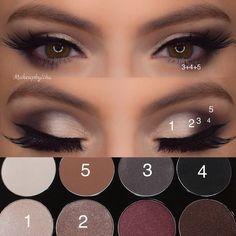 – Kosmetik – - Makeup Tutorial Over 40 Hazel Eye Makeup, Eye Makeup Steps, Hooded Eye Makeup, Hazel Eyes, Smokey Eye Makeup, Everyday Eye Makeup, Makeup Inspo, Beauty Makeup, Makeup App