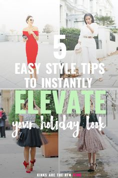 five easy holiday style tips that'll add a little more oomph to your party outfit so you can feel like your best self no matter the occasion.