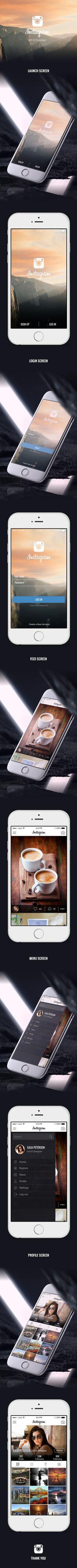 Instagram redesign for iOS 8