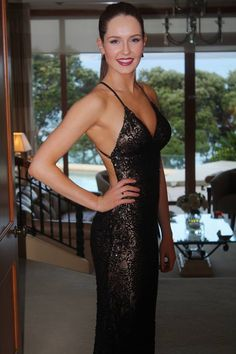 The gorgeous Livvy wearing SCALA 47542 Black Nude! www.scalausa.com