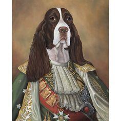 Spaniel Canvas Print SIr James English Springer Spaniel Dog