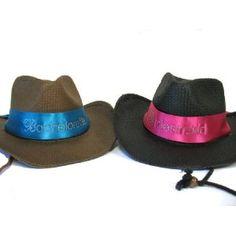 Bride and Bridesmaid Cowboy Hats!
