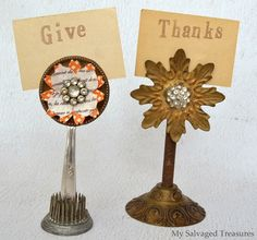 Junky magnetic flower picture holders