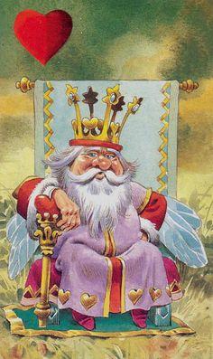 FO- Herzen 14 - König (Tarot Card)