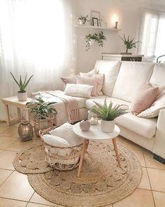 Boho Living Room, Home And Living, Living Room Decor, Modern Living, Small Living, Living Room Inspiration, Home Decor Inspiration, Decor Room, Bedroom Decor