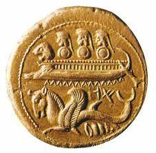 Invenção da moeda: existia uma sistematização, uma estruturação com a moeda, passou a substituir o escambo.