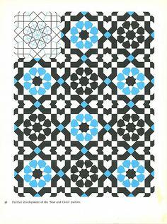 Pattern in Islamic Art - PIA 038 moorish arabesque moroccan muslim geometric tile design #islamicart