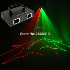 2 lens RG Laser LED Stage Lighting DMX512 DJ Show Light Green Red Home party KTV disco bar Professional Light with Free shipping #Affiliate