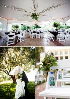 Wedding tent decor