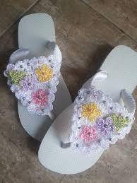 Resultado de imagem para sandalias havaianas decoradas croche